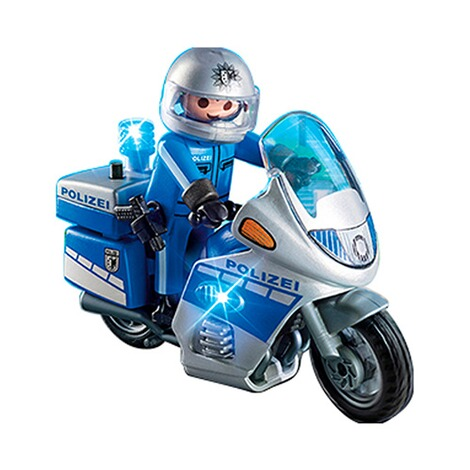 PLAYMOBIL® CITY ACTION 6876 Motorradstreife mit LED-Blinklicht 2