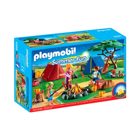 PLAYMOBIL® SUMMER FUN 6888 Zeltlager mit LED-Lagerfeuer 1