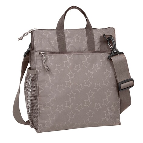 LÄSSIG CASUAL Wickeltasche Buggy Bag Reflective Star  grau 1