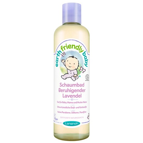 LANSINOH EARTH FRIENDLY BABY Schaumbad Beruhigender Lavendel 300 ml 1