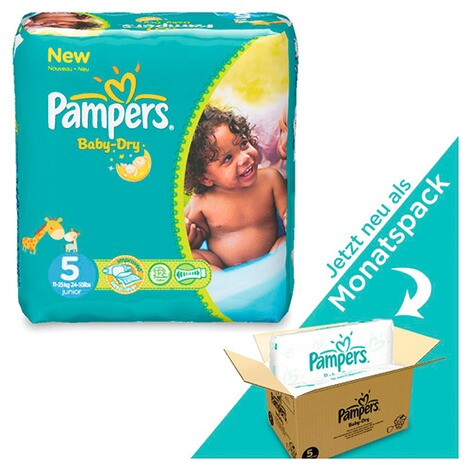 PAMPERS  Baby Dry Windeln Gr. 5 11-25 kg Monatsbox 144 St. 1