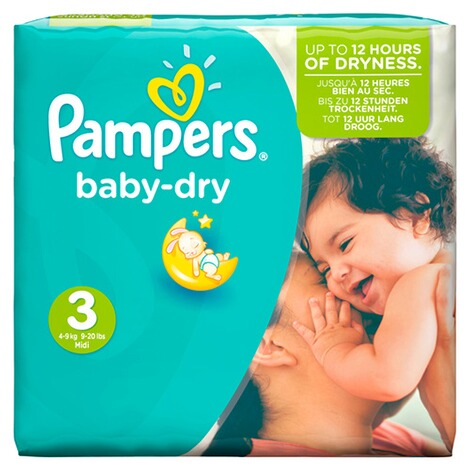 PAMPERS  Baby Dry Windeln Gr. 3 4-9 kg Monatsbox 198 St. 2