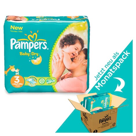 PAMPERS  Baby Dry Windeln Gr. 3 4-9 kg Monatsbox 198 St. 1