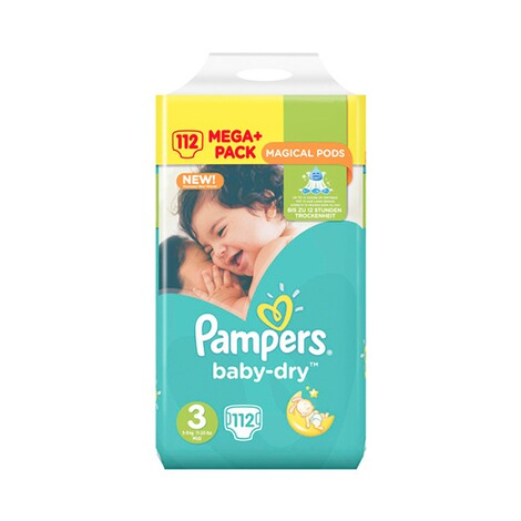 PAMPERS  Baby Dry Windeln Gr. 3 5-9 kg Mega Plus Pack 112 St. 1