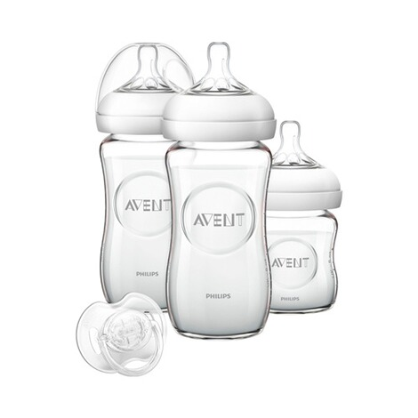 PHILIPS AVENT  3tlg. Neugeborenen-Set, SCD291/02, Glas, 125-240ml 1