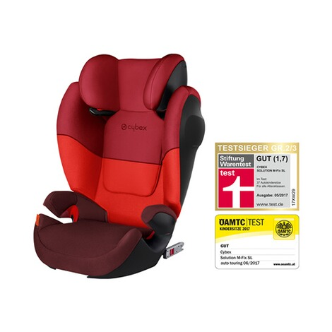 CYBEX SILVER Solution M-Fix SL Kindersitz Design 2017  Rumba Red 1