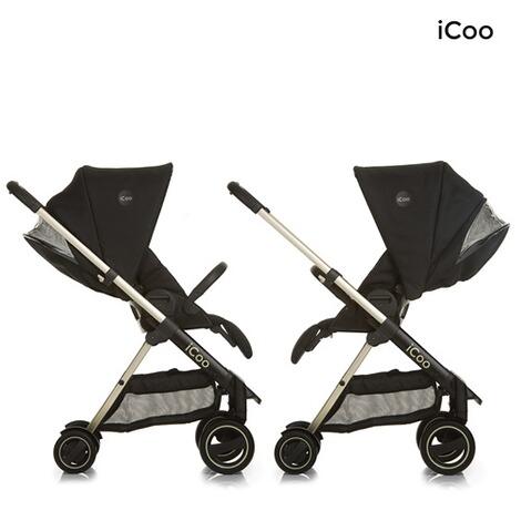 icoo acrobat xl plus kombikinderwagen trio set mit led beleuchtung design 2017 online kaufen. Black Bedroom Furniture Sets. Home Design Ideas