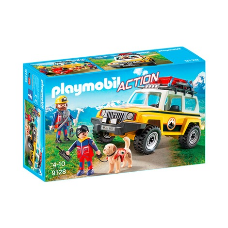 playmobil action 9128 bergretter einsatzfahrzeug online. Black Bedroom Furniture Sets. Home Design Ideas