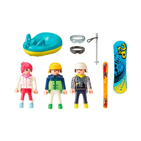 PLAYMOBIL® FAMILY FUN 9286 Freizeit-Wintersportler 2