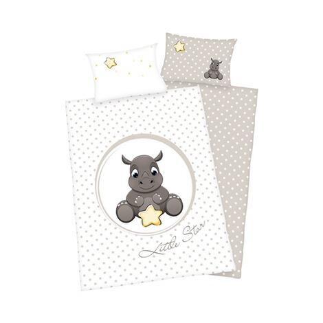 herding wende bettw sche nashorn 40x60 100x135 cm flanell online kaufen baby walz. Black Bedroom Furniture Sets. Home Design Ideas