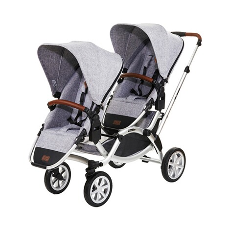 ABC DESIGN ZOOM AIR Zwillings- und Geschwisterwagen Design 2018  graphite grey 1