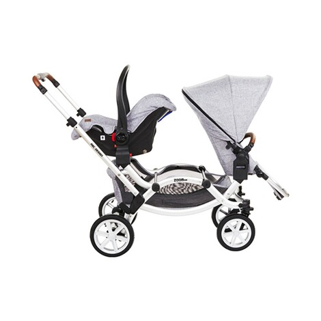 ABC DESIGN ZOOM AIR Zwillings- und Geschwisterwagen Design 2018  graphite grey 11