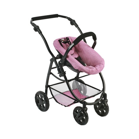BAYER CHIC  Kombi-Puppenwagen 3 in 1 Emotion All In  jeans/pink 5