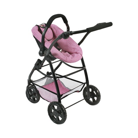 BAYER CHIC  Kombi-Puppenwagen 3 in 1 Emotion All In  jeans/pink 6