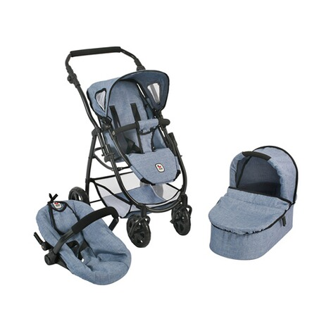 BAYER CHIC  Kombi-Puppenwagen 3 in 1 Emotion All In  jeans/blau 1