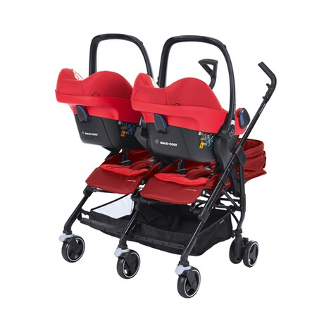 MAXI-COSI DANA FOR 2 Zwillings- und Geschwisterbuggy Design 2018  Vivid Red 7