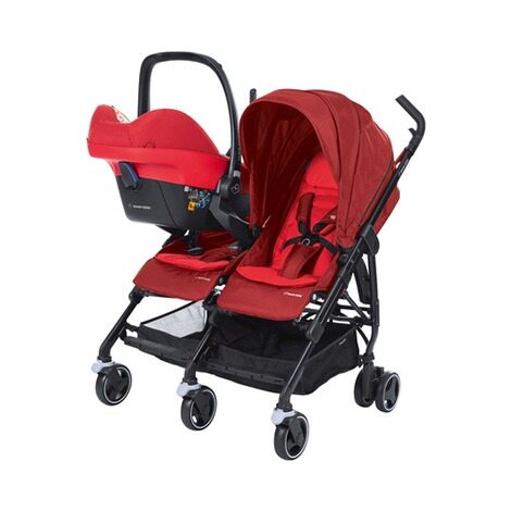 MAXI-COSI DANA FOR 2 Zwillings- und Geschwisterbuggy Design 2018  Vivid Red 8