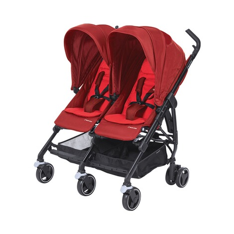 MAXI-COSI DANA FOR 2 Zwillings- und Geschwisterbuggy Design 2018  Vivid Red 1
