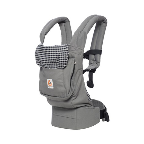ERGOBABY® ORIGINAL Babytrage, 3 Tragepositionen, Design 2018  Steel Plaid 2