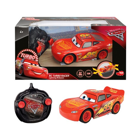 dickie toys disney cars 3 rc auto turbo racer lightning mcqueen 1 24 online kaufen baby walz. Black Bedroom Furniture Sets. Home Design Ideas