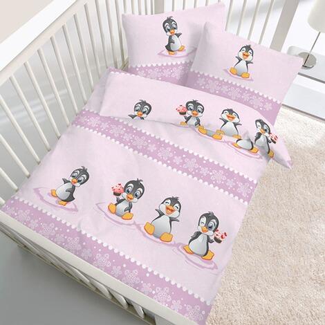 ido biber bettw sche baby pinguin 40x60 100x135 cm online kaufen baby walz. Black Bedroom Furniture Sets. Home Design Ideas