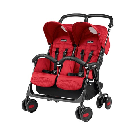 PEG-PÉREGO  Aria Shopper Twin Zwillings- und Geschwisterwagen Design 2018  Geo Red 1