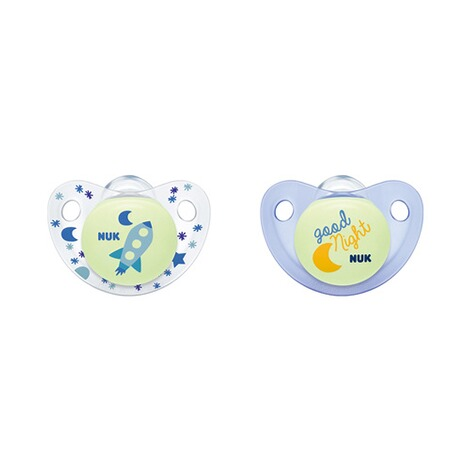 NUK  2er-Pack Leuchtschnuller Night & Day 6-18M  blau 1