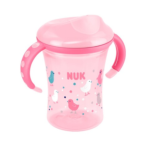 NUK  Trinklernbecher Easy Learning Trainer Cup 230ml, ab 8M  rosa 1