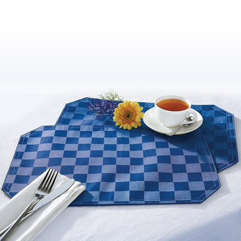 "vivaDOMO®  Jacquard placemats ""Speciaal""  blauw 1"