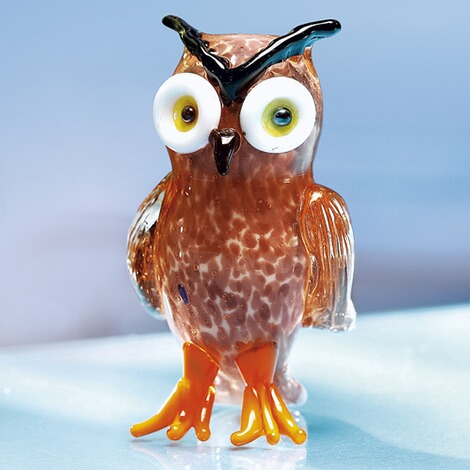 Animal en verre  hibou 1