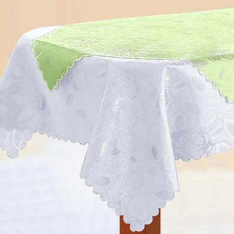 vivadomo tischdecke jasmin wei online kaufen die moderne hausfrau. Black Bedroom Furniture Sets. Home Design Ideas