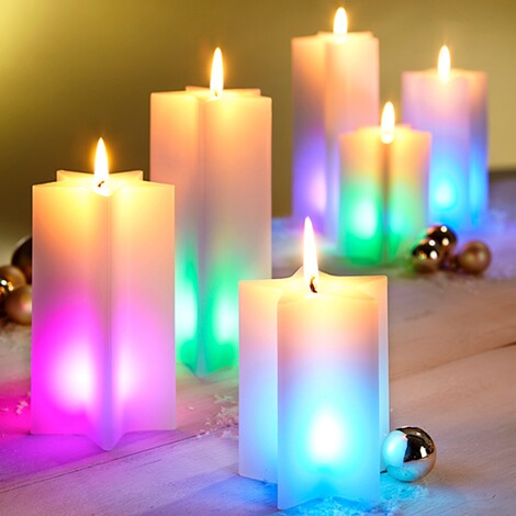 Tri Kerzen Trio Regenbogen Online Kaufen Die Moderne