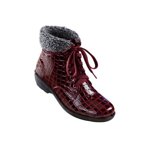 "wonderWALK  Veterlaarsjes ""Kroko""  bordeaux 1"