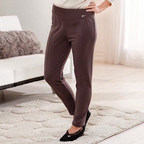 Jersey-Hose  taupe 1