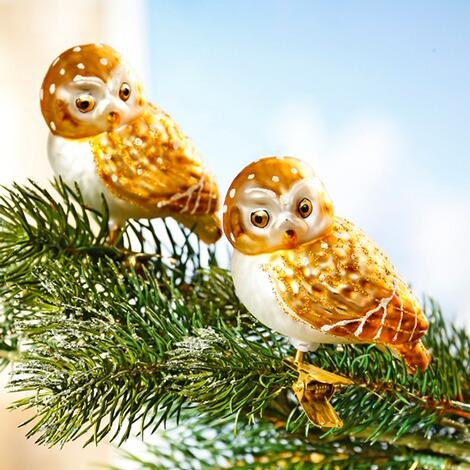Kerstboomversiering Glazen Uiltjes 2 Stuks Online Kopen Huis
