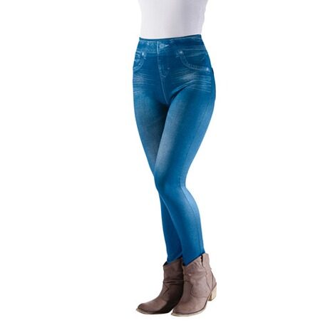 Slimm-Leggings  blau 1