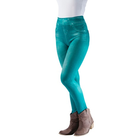 Slimm-Leggings  petrol 1