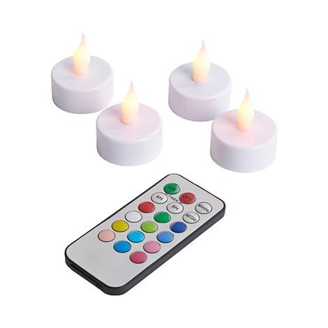 led teelichter mit fernbedienung 4 st ck online kaufen. Black Bedroom Furniture Sets. Home Design Ideas