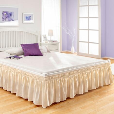 jupe de lit cr me commander en ligne maison confort. Black Bedroom Furniture Sets. Home Design Ideas