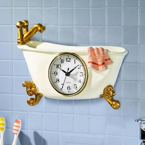 Horloge pour salle de bains commander en ligne maison confort - Horloge salle de bain design ...
