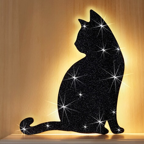 led sticker katze online kaufen die moderne hausfrau. Black Bedroom Furniture Sets. Home Design Ideas