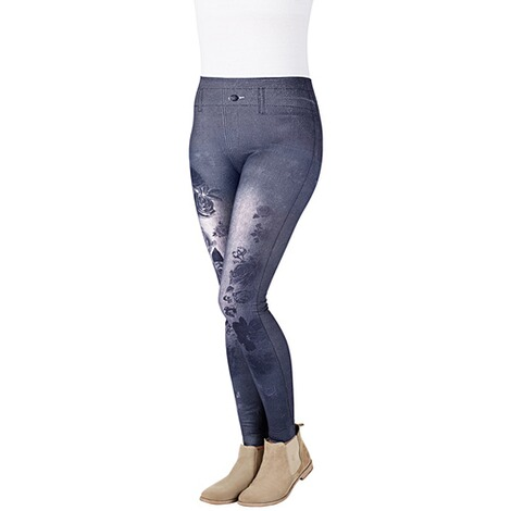 Slimm-Leggings  Motiv Rose 1