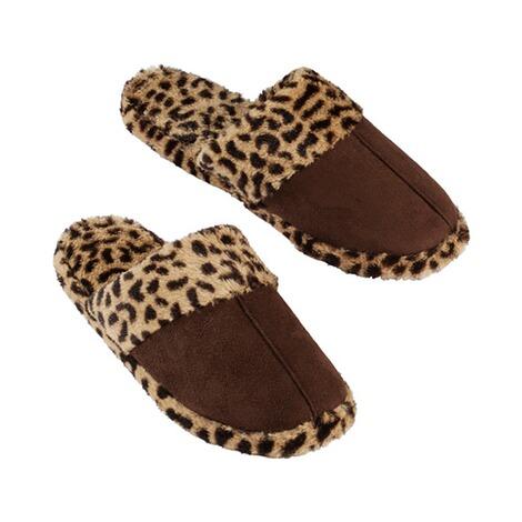 hausschuh leopard online kaufen die moderne hausfrau. Black Bedroom Furniture Sets. Home Design Ideas