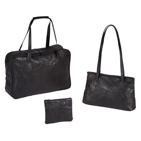 taschen set echt leder 3er set online kaufen die moderne hausfrau. Black Bedroom Furniture Sets. Home Design Ideas