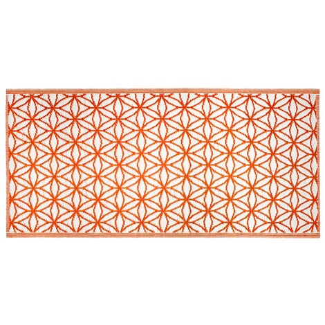 vivaDOMO®Outdoor-Wende-Teppich  orange 1