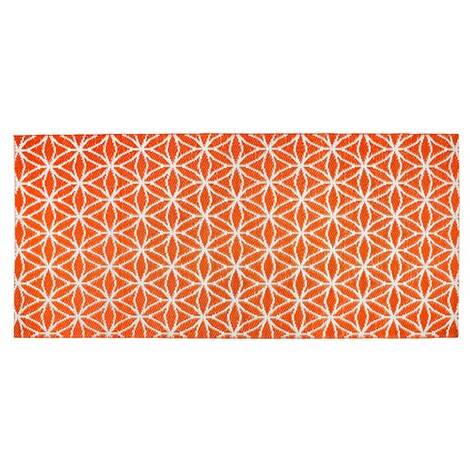vivaDOMO®  Outdoor-Wende-Teppich  orange 2
