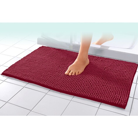vivaDOMO®  Super-Soft-Badematte  bordeaux 1