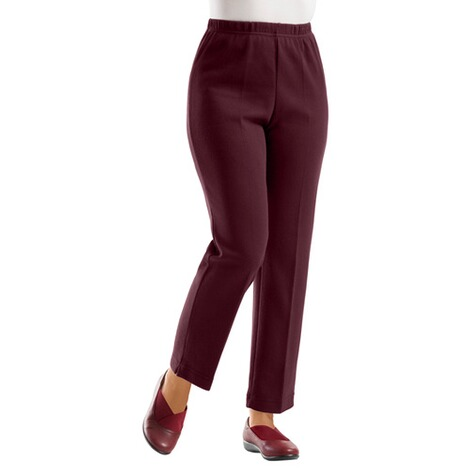 Comfortabele warme broek  bordeaux 2