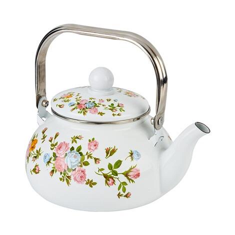 Emaille Teekessel Rosentraum Online Kaufen Die Moderne Hausfrau