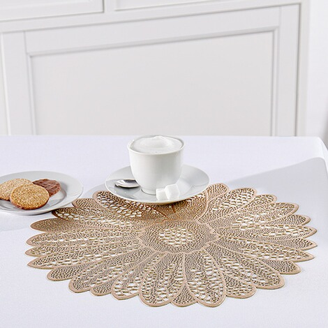 "Placemats ""Golden Flower"", 4 stuks 2"